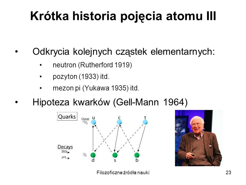 Krótka historia pojęcia atomu III