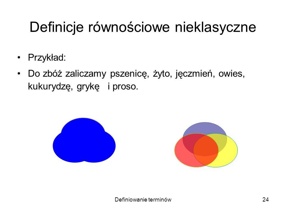 Definicje równościowe nieklasyczne