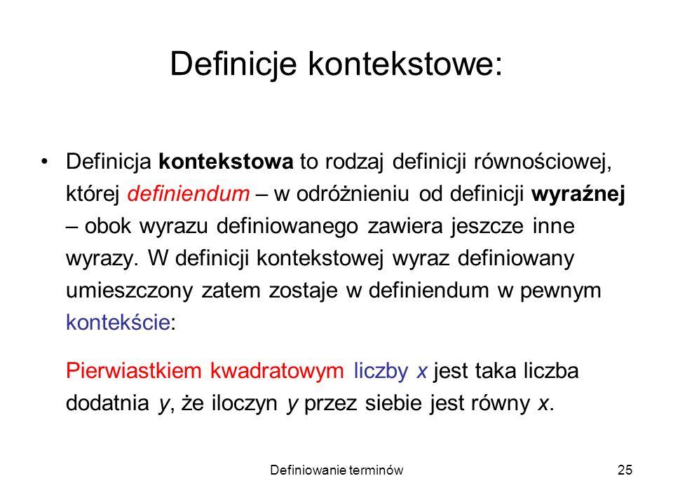 Definicje kontekstowe: