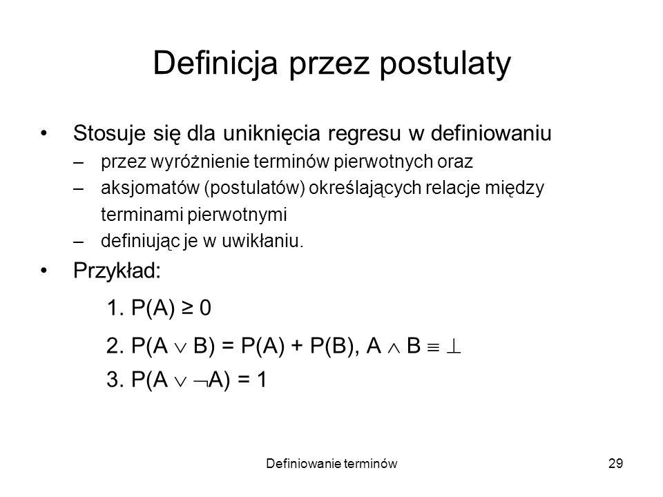 Definicja przez postulaty