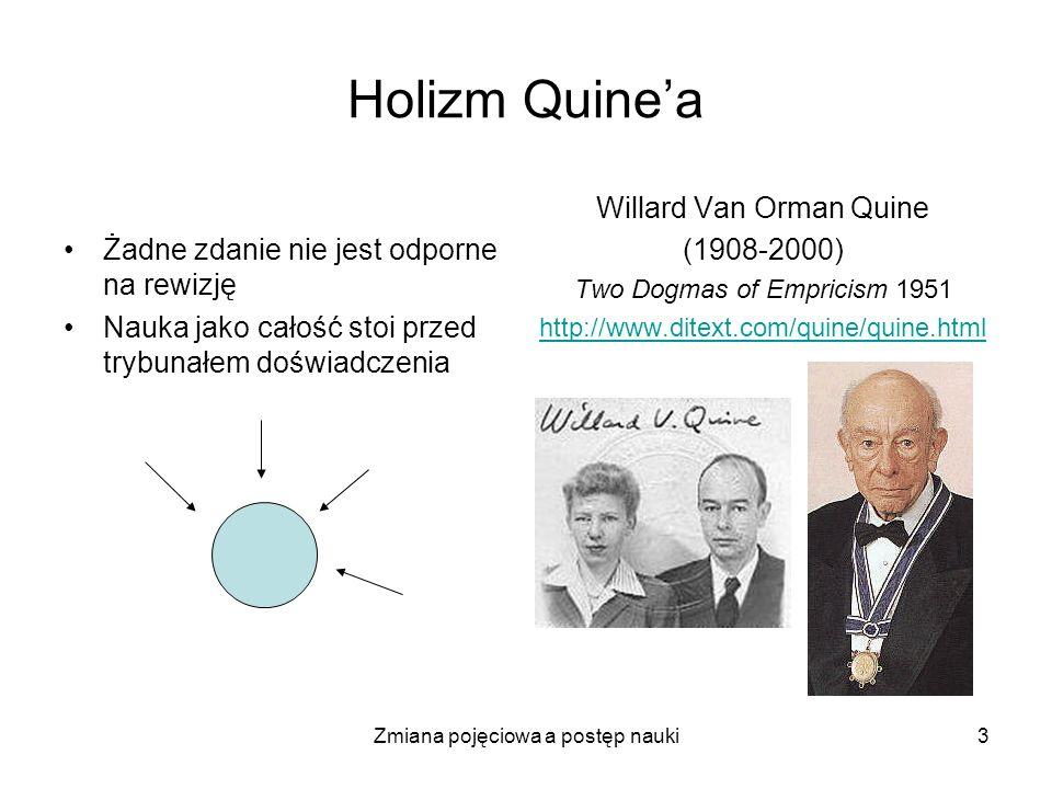 Holizm Quine'a Żadne zdanie nie jest odporne na rewizję