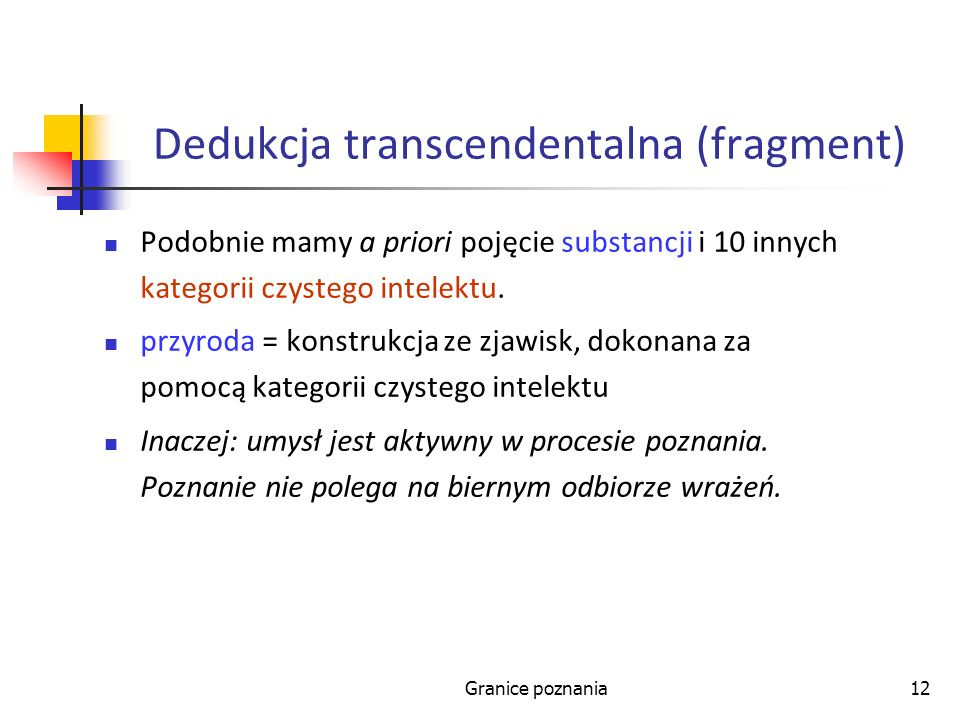 Dedukcja transcendentalna (fragment)