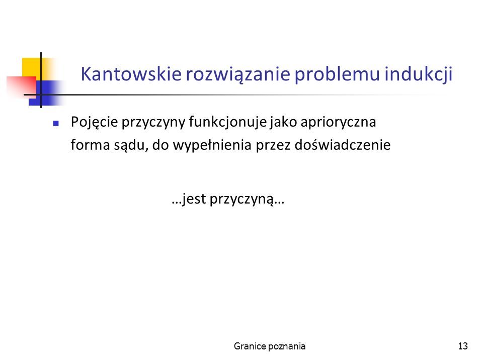 Kantowskie rozwiązanie problemu indukcji