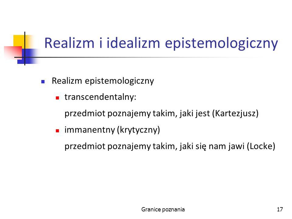 Realizm i idealizm epistemologiczny