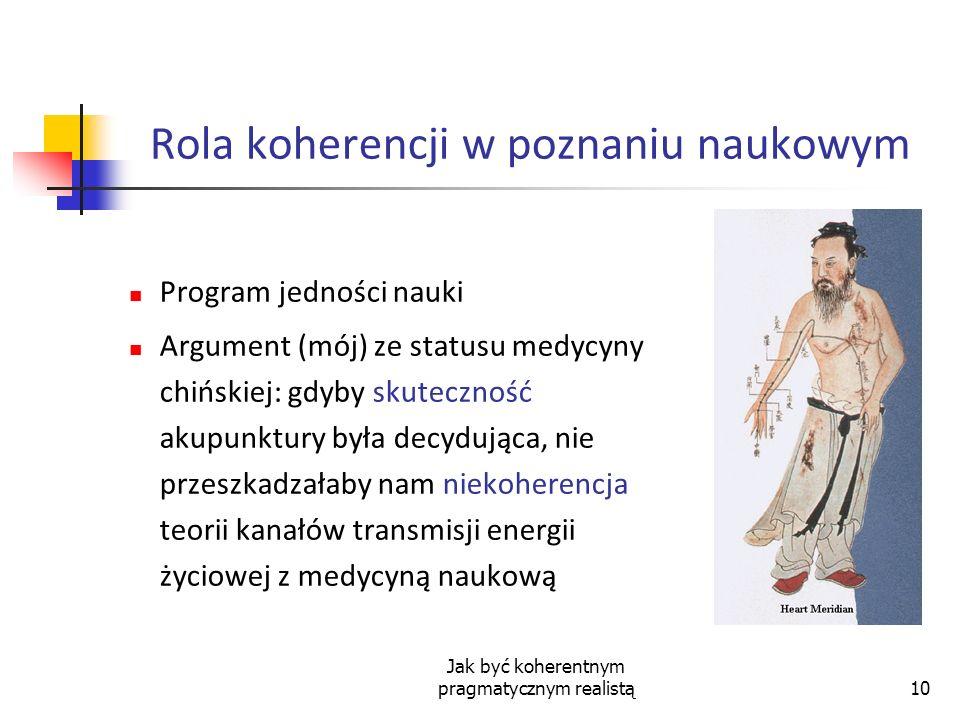 Rola koherencji w poznaniu naukowym