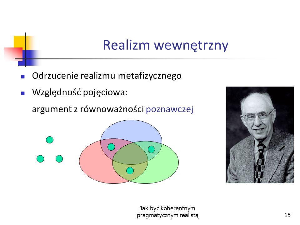 Jak być koherentnym pragmatycznym realistą