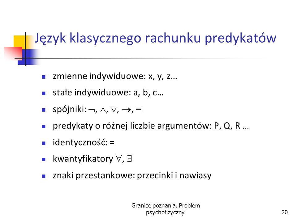 Język klasycznego rachunku predykatów
