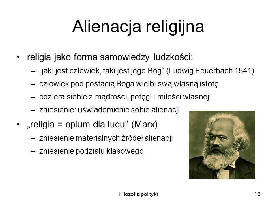 Alienacja religijna religia jako forma samowiedzy ludzkości: