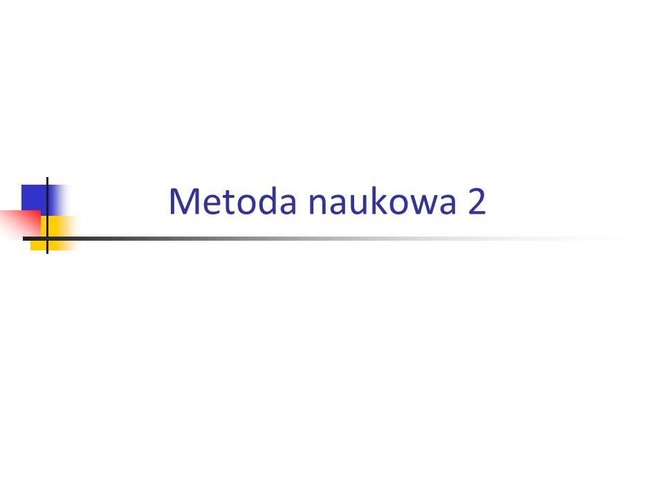 Metoda naukowa 2