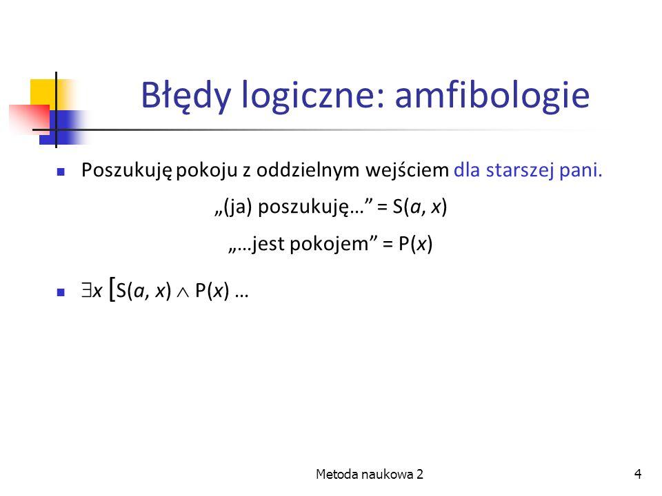Błędy logiczne: amfibologie
