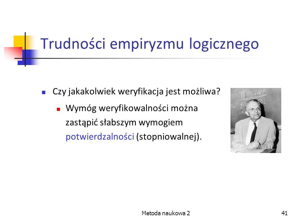 Trudności empiryzmu logicznego