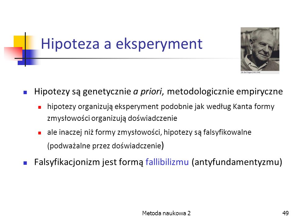 Hipoteza a eksperyment