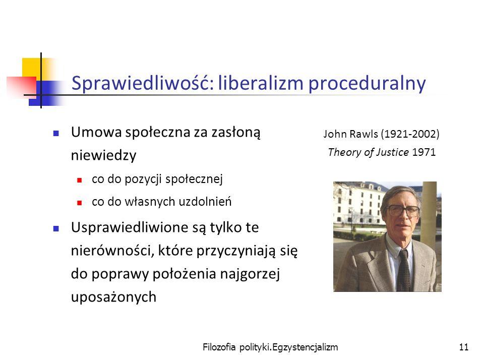 Sprawiedliwość: liberalizm proceduralny