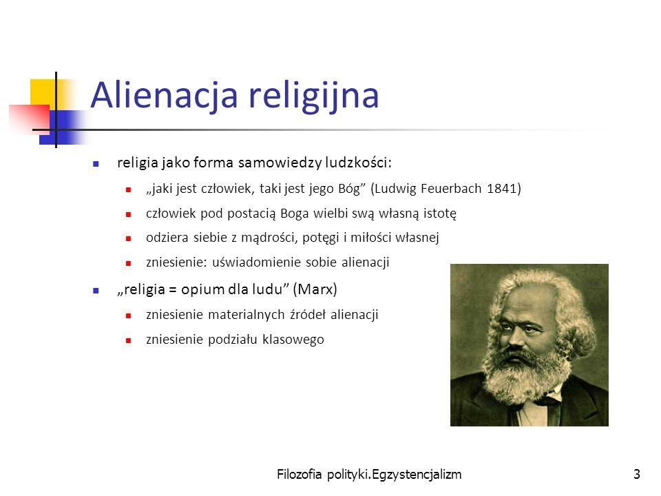 Filozofia polityki.Egzystencjalizm