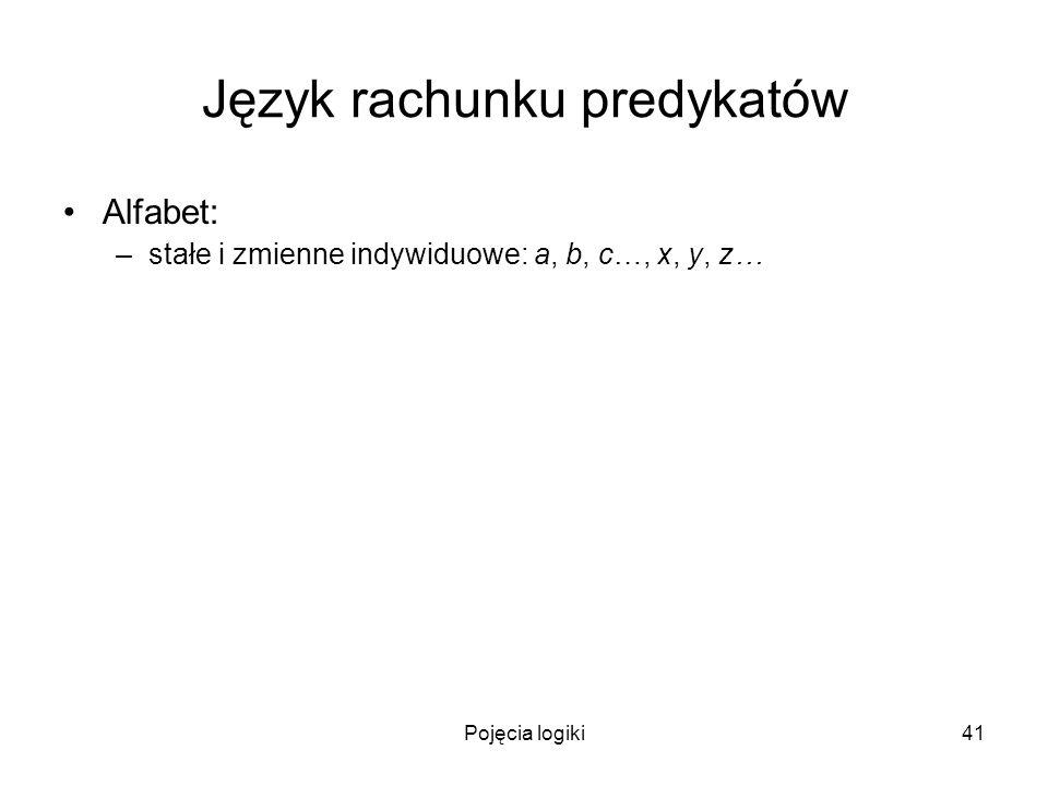 Język rachunku predykatów