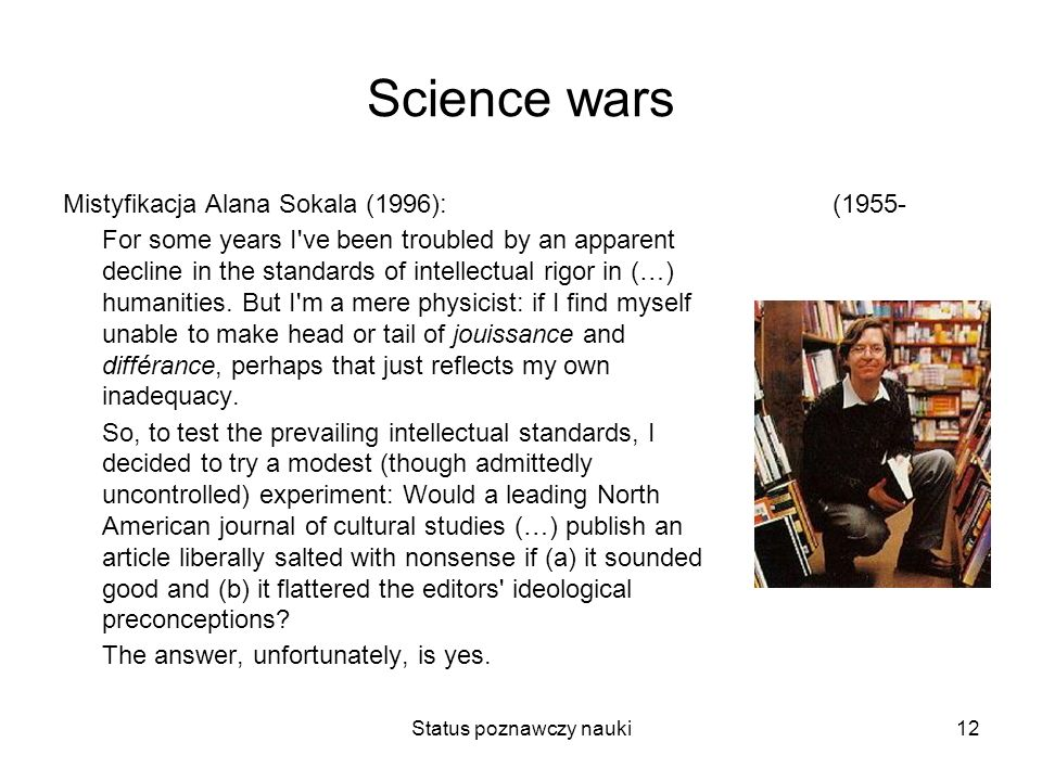 Status poznawczy nauki