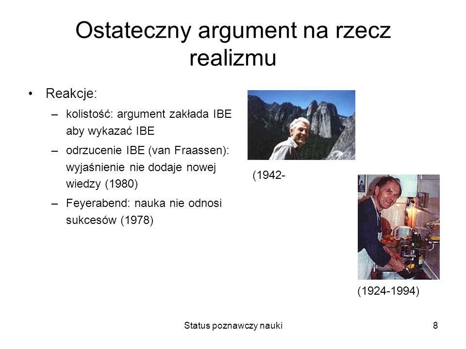 Ostateczny argument na rzecz realizmu