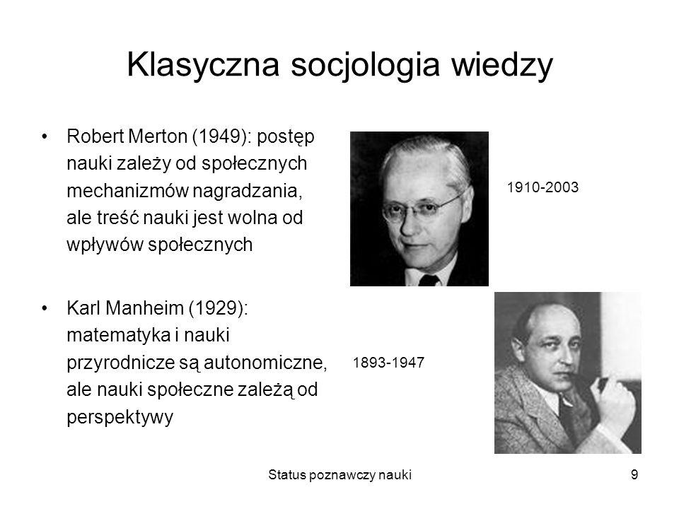 Klasyczna socjologia wiedzy
