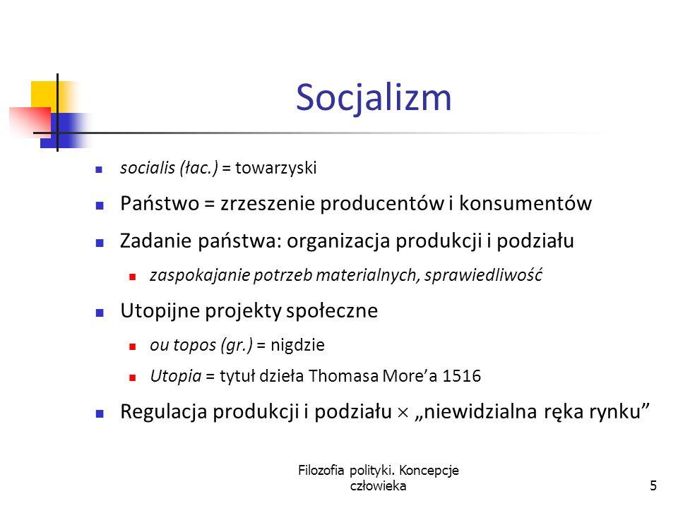 Filozofia polityki. Koncepcje człowieka