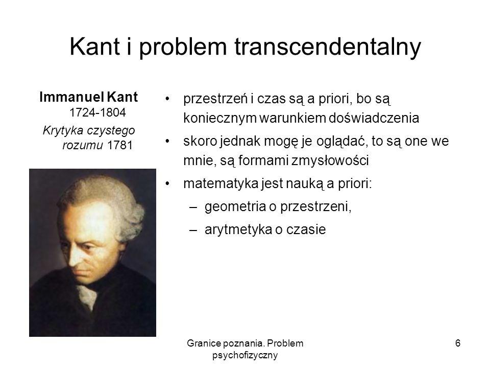 Kant i problem transcendentalny