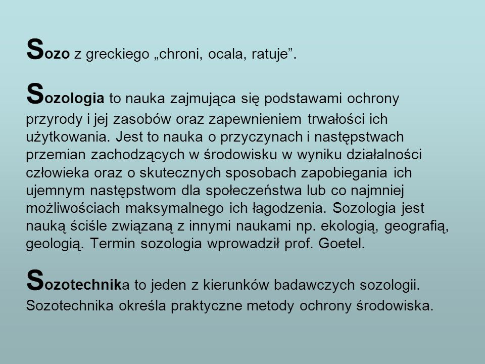 """Sozo z greckiego """"chroni, ocala, ratuje ."""