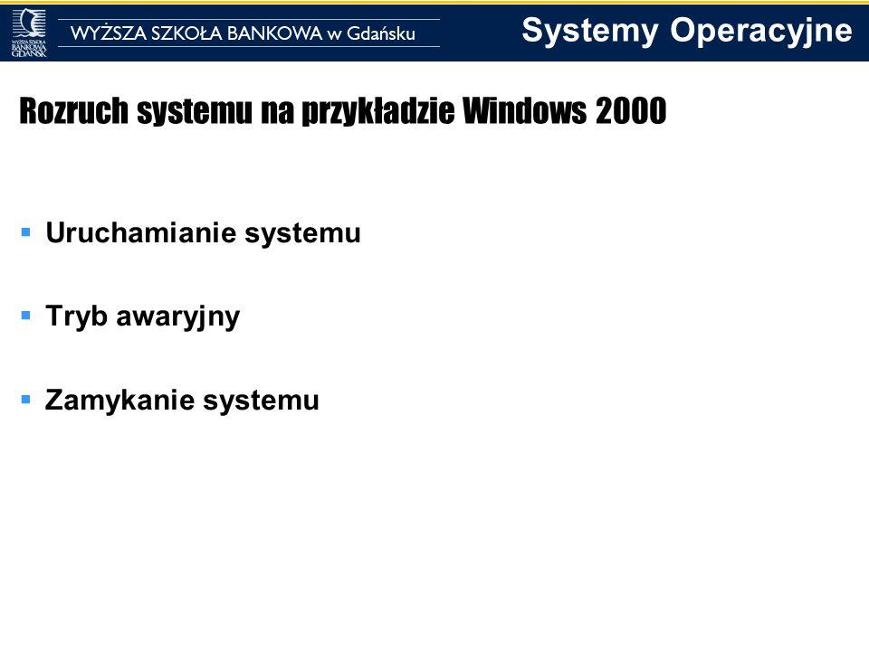 Rozruch systemu na przykładzie Windows 2000