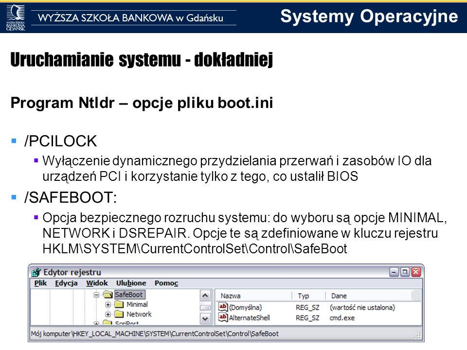 Uruchamianie systemu - dokładniej