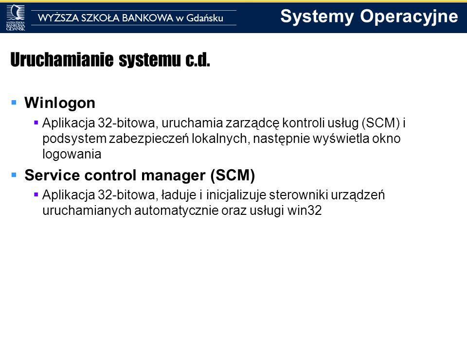 Uruchamianie systemu c.d.
