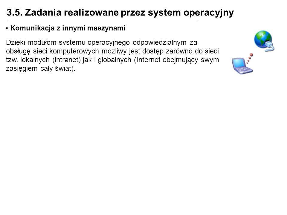 3.5. Zadania realizowane przez system operacyjny