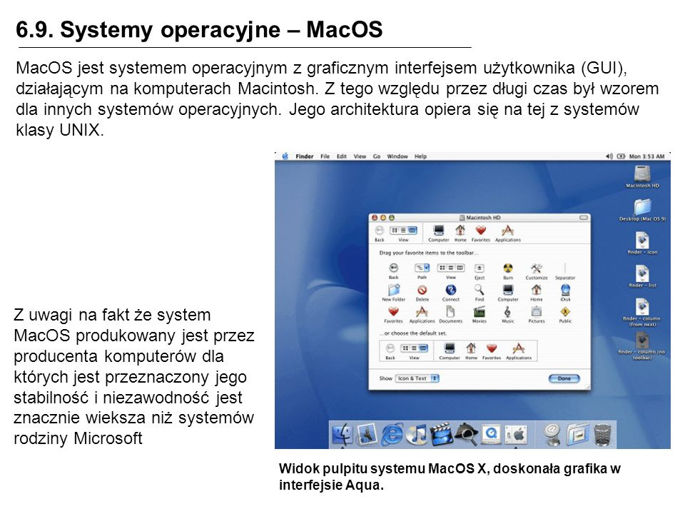6.9. Systemy operacyjne – MacOS