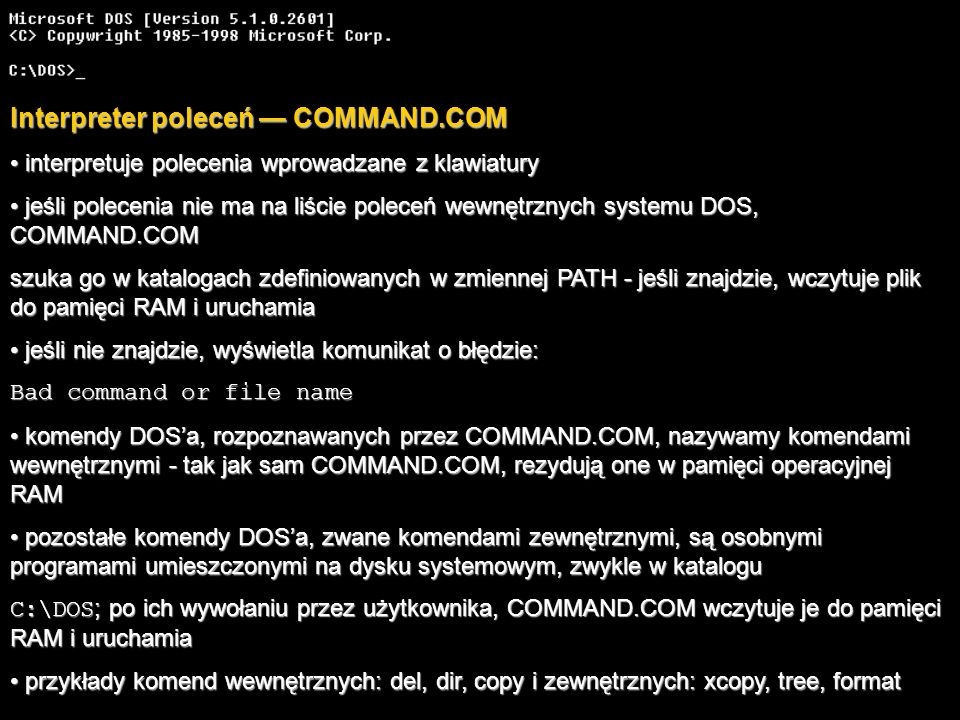 Interpreter poleceń — COMMAND.COM