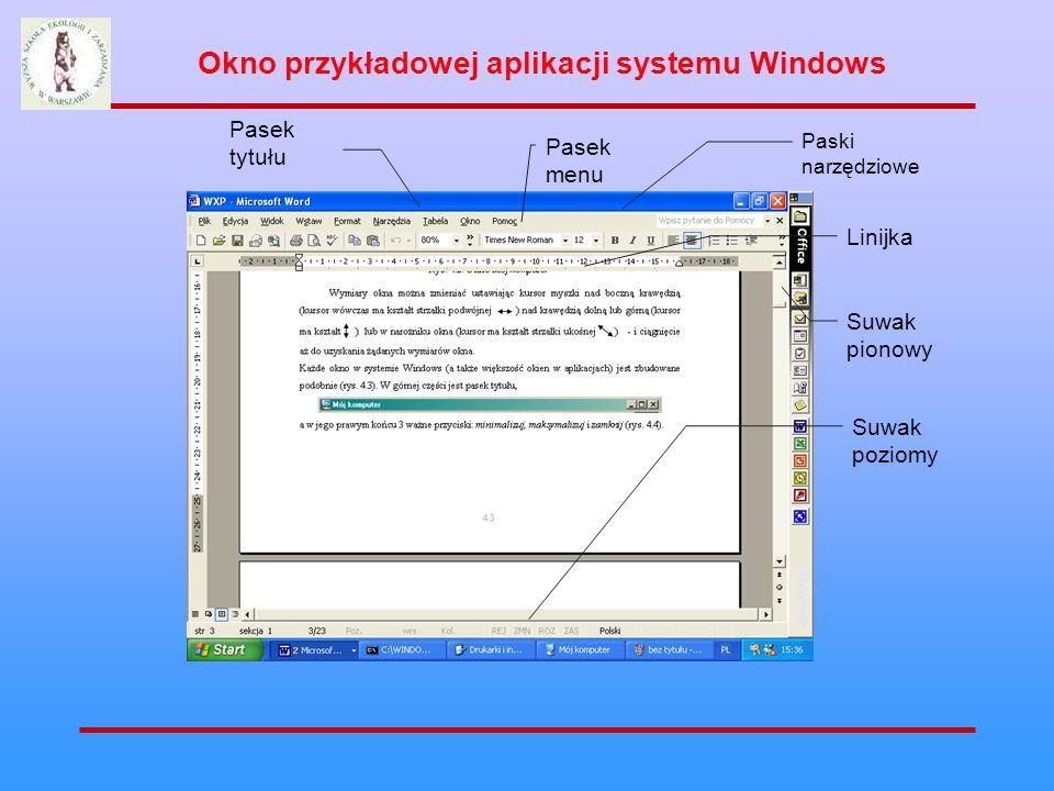 Okno przykładowej aplikacji systemu Windows
