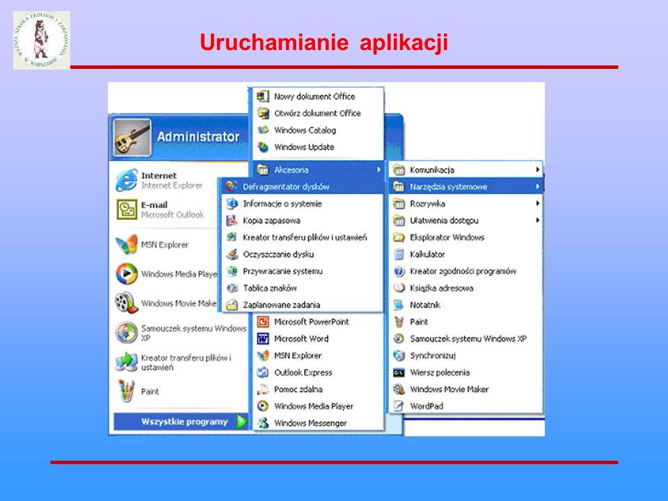 Uruchamianie aplikacji
