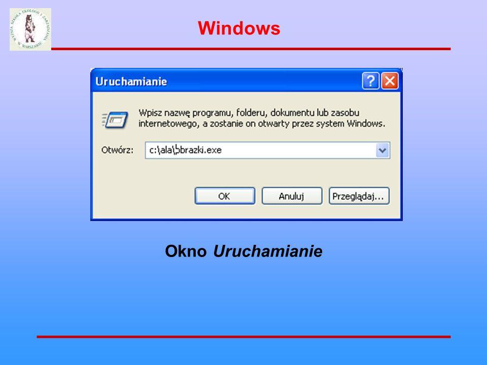 Windows Okno Uruchamianie