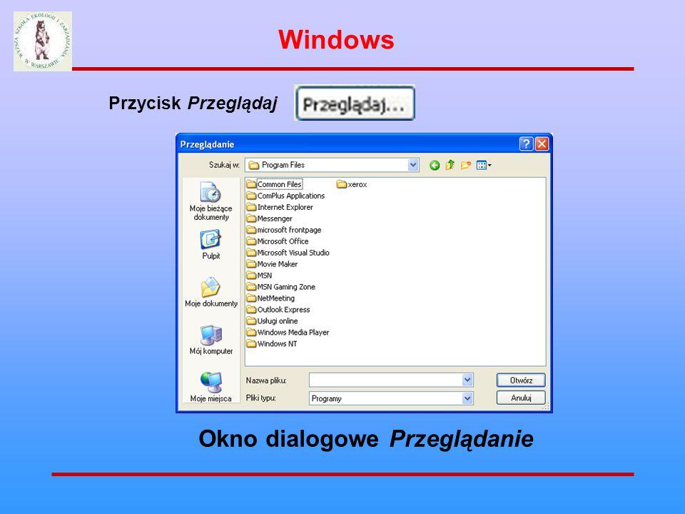 Windows Przycisk Przeglądaj Okno dialogowe Przeglądanie