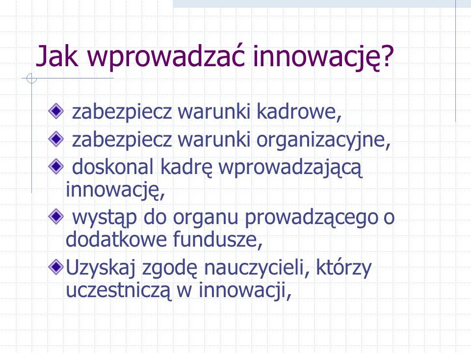 Jak wprowadzać innowację