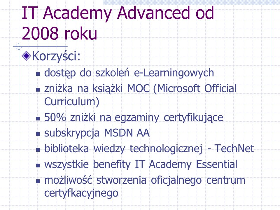 IT Academy Advanced od 2008 roku