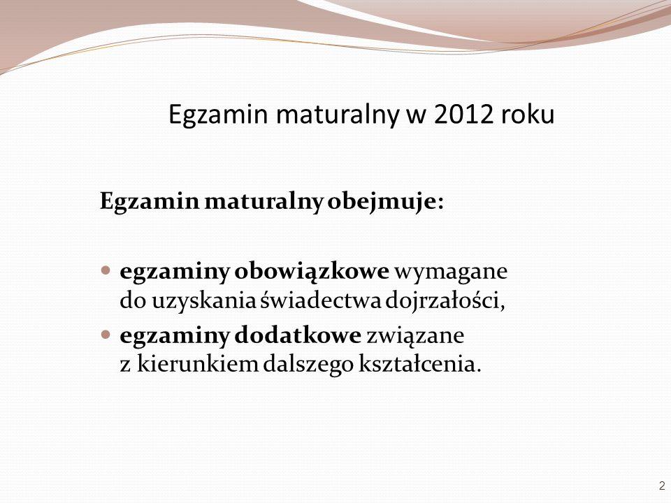 Egzamin maturalny w 2012 roku
