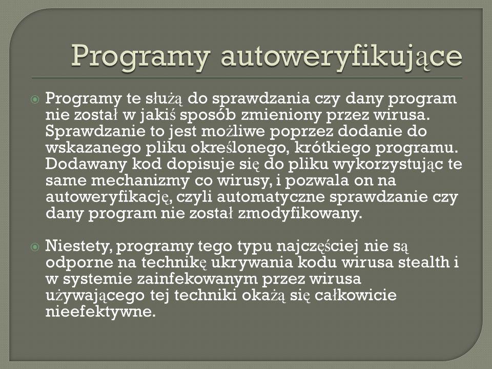 Programy autoweryfikujące