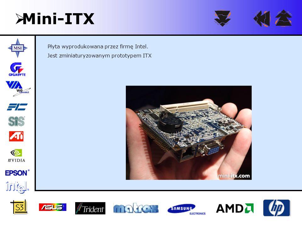Mini-ITX Płyta wyprodukowana przez firmę Intel.