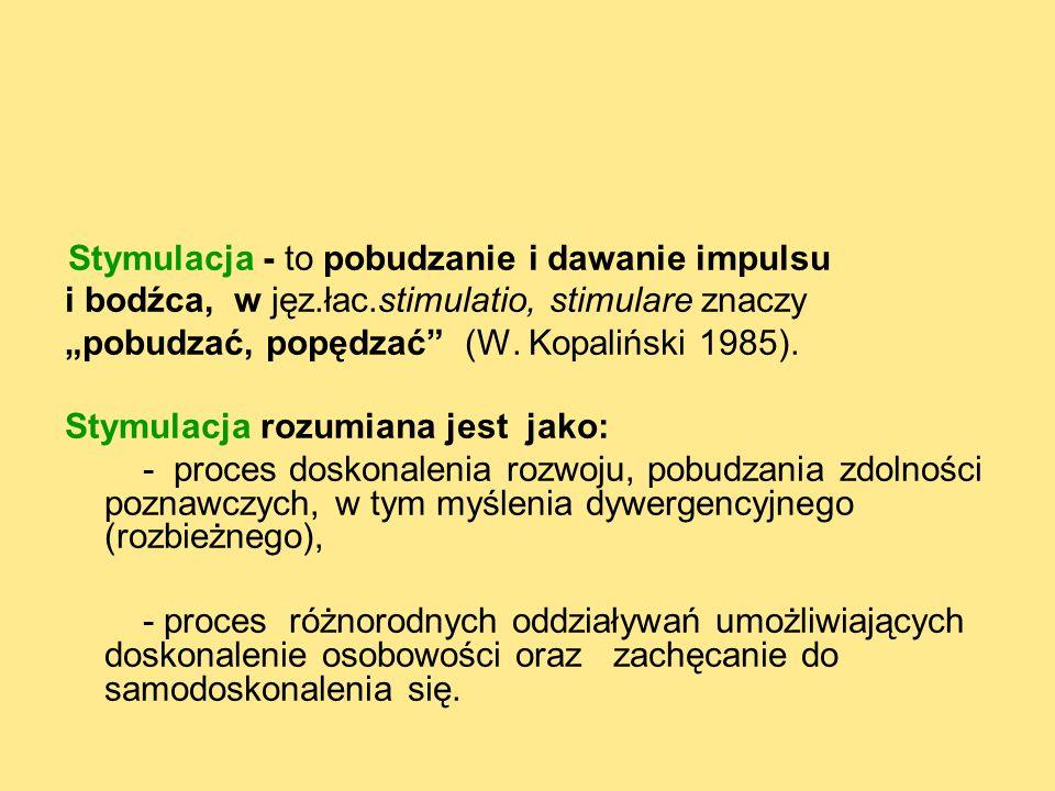 i bodźca, w jęz.łac.stimulatio, stimulare znaczy