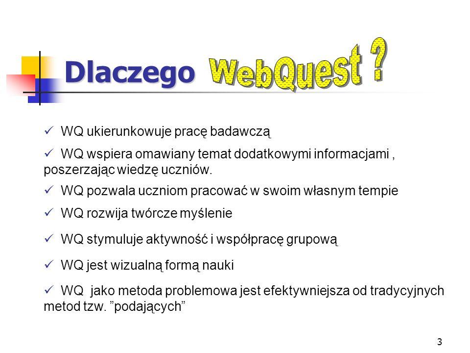 Dlaczego WebQuest WQ ukierunkowuje pracę badawczą
