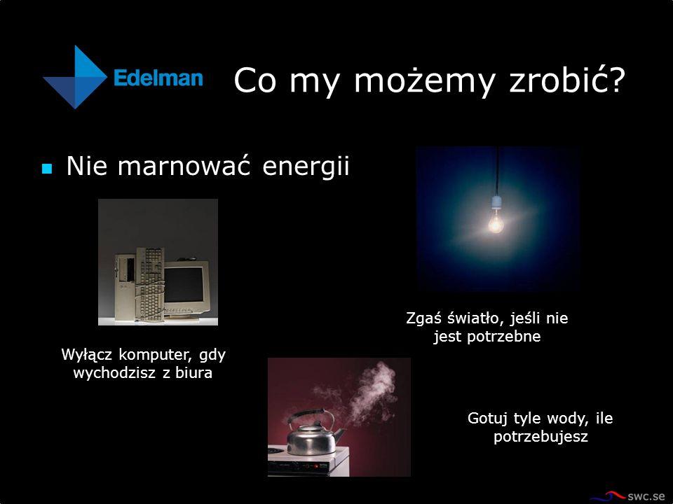 Co my możemy zrobić Nie marnować energii