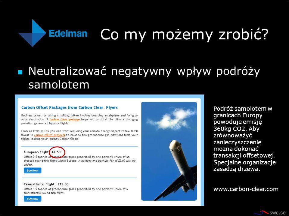 Co my możemy zrobić Neutralizować negatywny wpływ podróży samolotem