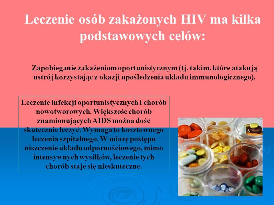 Leczenie osób zakażonych HIV ma kilka podstawowych celów: