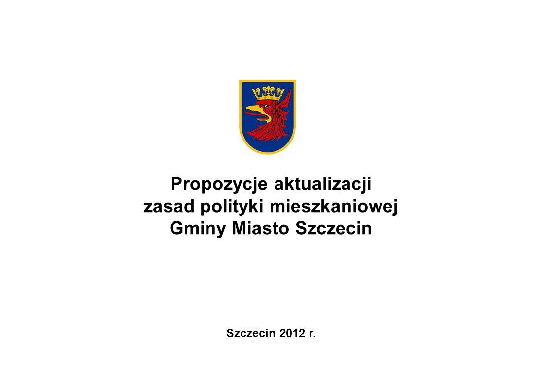 Propozycje aktualizacji zasad polityki mieszkaniowej Gminy Miasto Szczecin