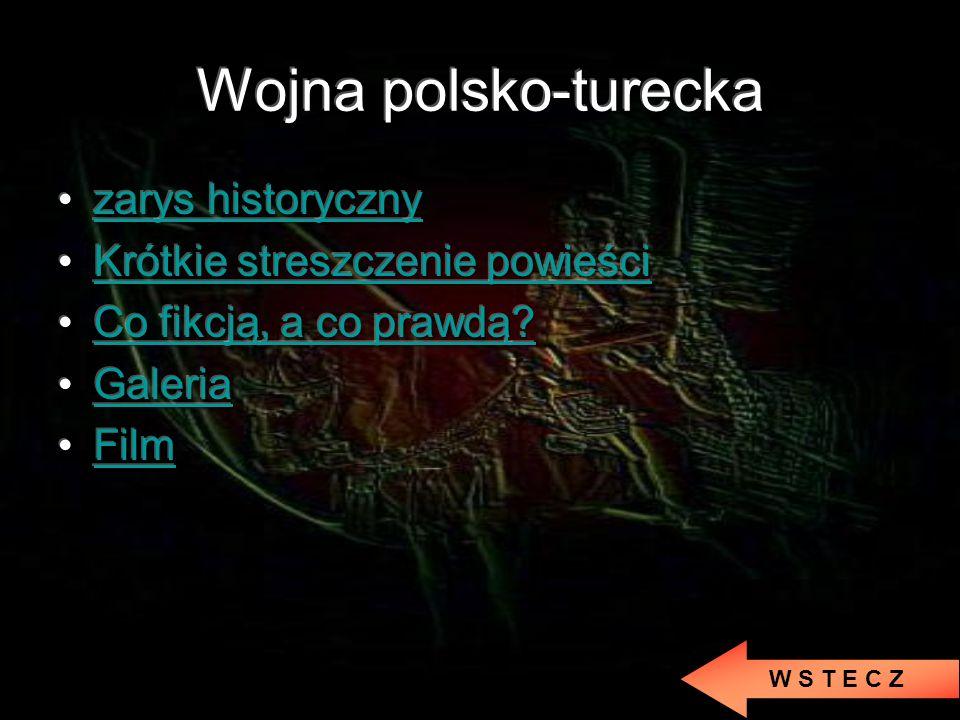 Wojna polsko-turecka zarys historyczny Krótkie streszczenie powieści