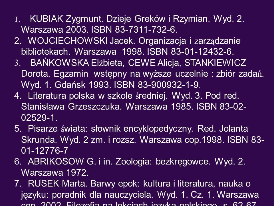 ABRIKOSOW G. i in. Zoologia: bezkręgowce. Wyd. 2. Warszawa 1972.