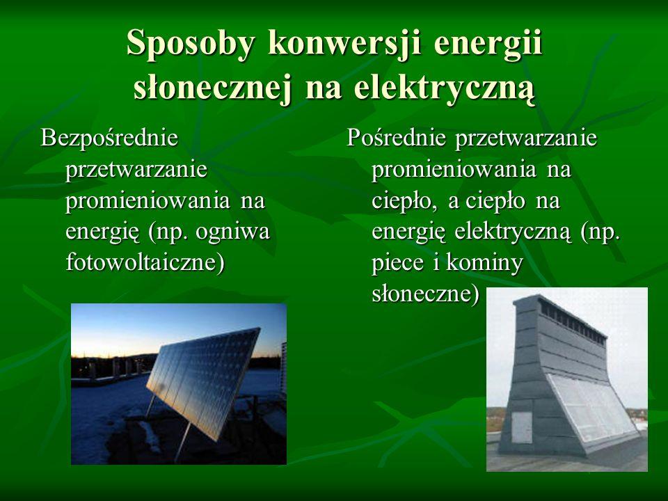 Sposoby konwersji energii słonecznej na elektryczną