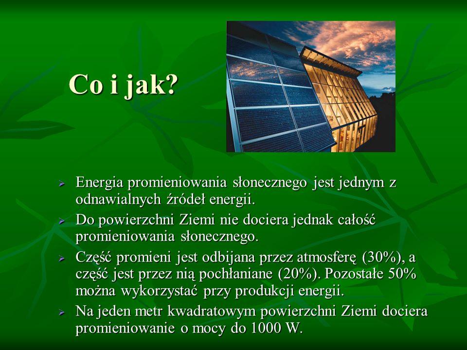 Co i jak Energia promieniowania słonecznego jest jednym z odnawialnych źródeł energii.
